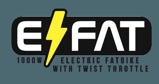 efat logo electric fatbike with twist throttle